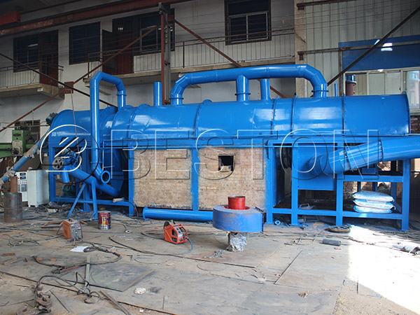 sawdust carbonizing machine